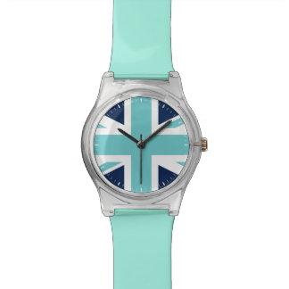 Teal and Blue Union Jack Wrist Watch