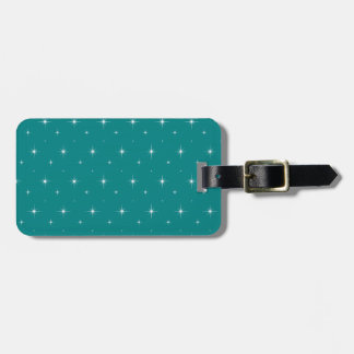 Teal And Bright Stars Elegant Pattern Bag Tag