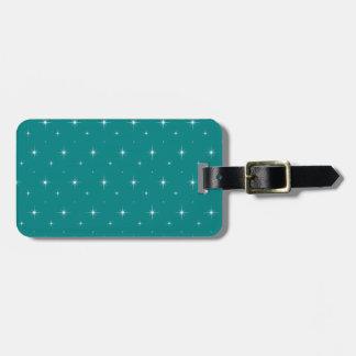 Teal And Bright Stars Elegant Pattern Bag Tag