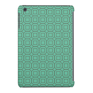 Teal and Brown Diamond and Square Pattern iPad Mini Retina Covers