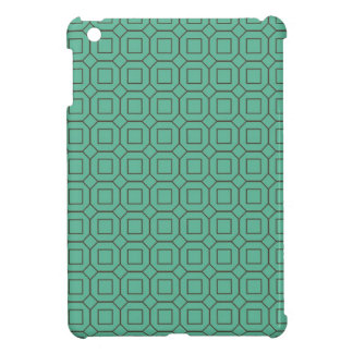 Teal and Brown Diamond and Square Pattern iPad Mini Case