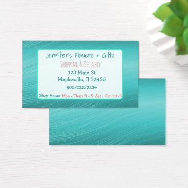 Professional Business Teal and Coral Business Card
