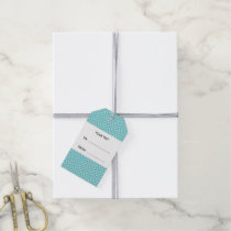 Teal and Coral Chevron with Custom Monogram Gift Tags