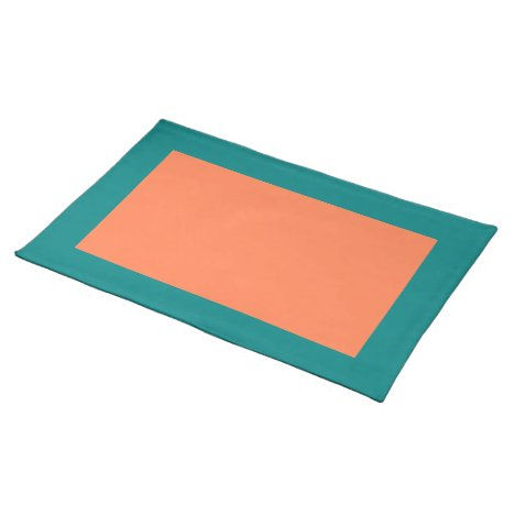 Teal and Coral Placemat
