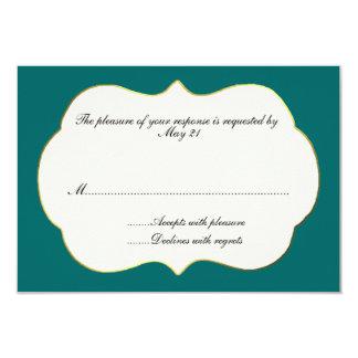 Teal and Cream Wedding Response Card