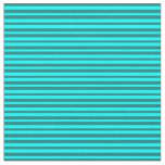 [ Thumbnail: Teal and Cyan Pattern of Stripes Fabric ]