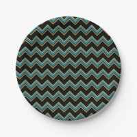 Teal and Gold Chevron Paper Plates  sc 1 st  Zazzle & Gold Chevron Plates | Zazzle
