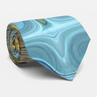 Teal and Gold Glass Blocks 2 Neck Tie