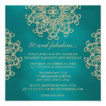 TEAL AND GOLD INDIAN INSPIRED BIRTHDAY INVITATION