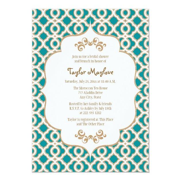 Personalized Arabian nights Invitations – Moroccan Party Invitations