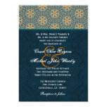 """Teal and Gold Ornate Pattern Wedding H642 5"""" X 7"""" Invitation Card"""