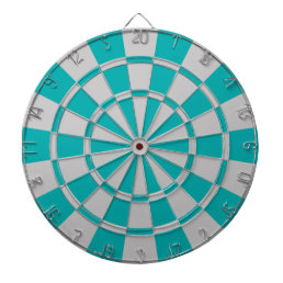 Teal And Gray Dart Board
