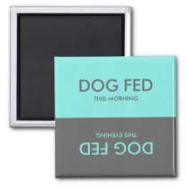 Teal and Gray | Feed Dog Pet Reminder Magnet