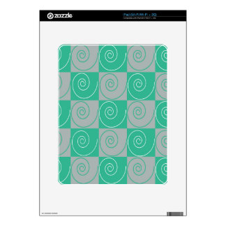 Teal and Gray Mousey Tails iPad Decals