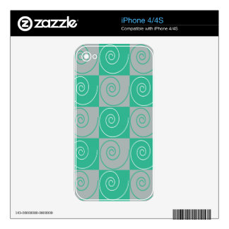 Teal and Gray Mousey Tails iPhone 4 Skin