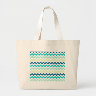 Teal and Green Chevron Canvas Bags