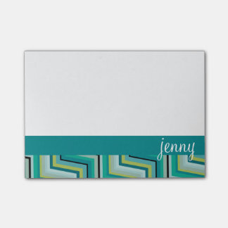 Teal and Green jenny Post-it® Notes