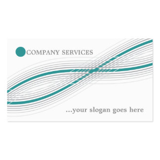 Teal and grey crossed curved lines and circle business card templates