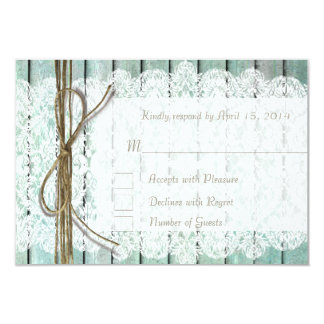 Teal and Lace RSVP Cards