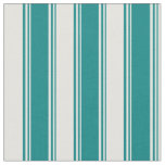 [ Thumbnail: Teal and Light Cyan Colored Striped/Lined Pattern Fabric ]