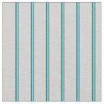 [ Thumbnail: Teal and Light Gray Stripes Fabric ]
