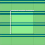 [ Thumbnail: Teal and Light Green Pattern of Stripes Fabric ]