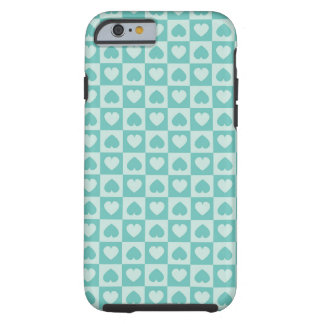 Teal and Light Teal Tough iPhone 6 Case