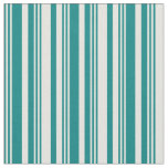 [ Thumbnail: Teal and Light Yellow Colored Stripes Pattern Fabric ]
