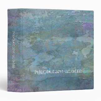 Teal and Lilac Abstract 3 Ring Binder