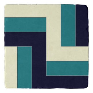 Teal and Marine Blue Mediterranean Style Trivet