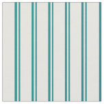 [ Thumbnail: Teal and Mint Cream Colored Lines Fabric ]