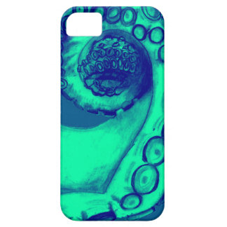 Teal and Navy Nautical Octopus Tentacle iPhone 5 Covers