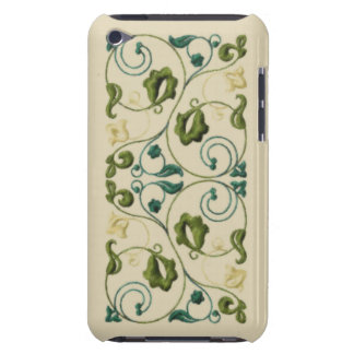Teal and Olive Green Vine iPod Touch Case
