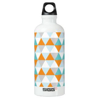 Teal and Orange Modern Triangle Pattern SIGG Traveler 0.6L Water Bottle