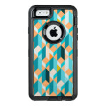 Teal And Orange Shapes Pattern OtterBox iPhone 6/6s Case