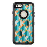 Teal And Orange Shapes Pattern OtterBox iPhone 6/6s Plus Case
