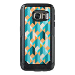 Teal And Orange Shapes Pattern OtterBox Samsung Galaxy S7 Case