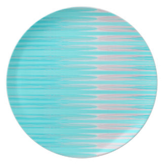 Teal and Pink Abstract Dagger Plate