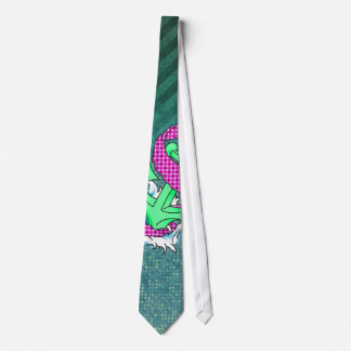 Teal and Pink Anchor on polka dots and stripes Tie