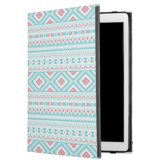 """Teal and Pink Aztec Tribal Pattern iPad Pro 12.9"""" Case"""