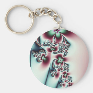 Teal and Pink Floral Key Chains