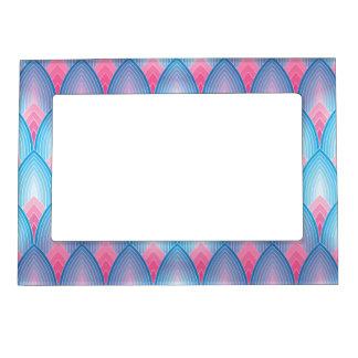 Teal And Pink Petal Pattern Magnetic Frame