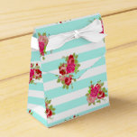 Teal and Pink Roses Candy Favor Bag Favor Box
