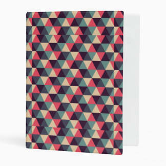 Teal And Pink Triangle Pattern Mini Binder