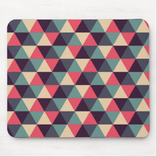 Teal And Pink Triangle Pattern Mouse Pad