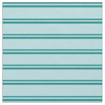 [ Thumbnail: Teal and Powder Blue Striped Pattern Fabric ]
