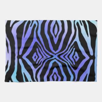 Teal and Purple animal print towel
