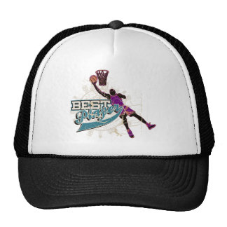 Teal and Purple Basketball Tshirts and Gifts Trucker Hat