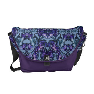 Teal and Purple Fabulous Foliage on Any Color Courier Bag