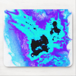 teal and purple flaming phoenix mouse pad